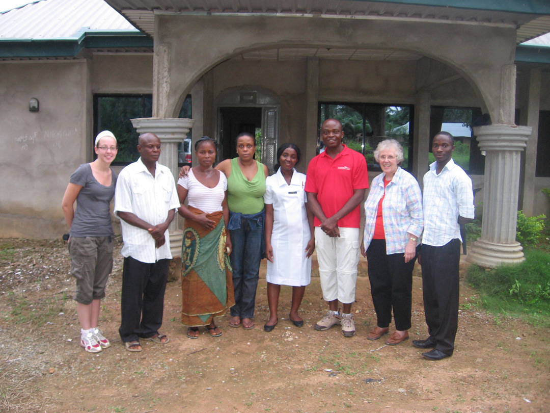 1st from left:   Lindsy Cleeton (Uplift Help International Inc.) 4th from left:  Dominique Jean a friend of Chris Okorie (Publicity Secretary of UHI Inc.)  7th from left  Sr. Dolores Castellano CIJ (Secretary UHI Inc.)  All others in the photo are family  and friends of Chris Okorie
