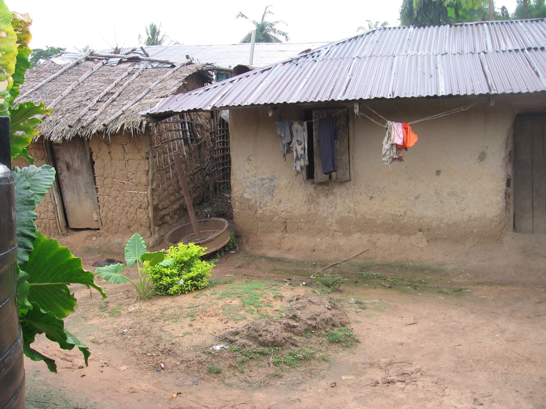 Chris Okorie's mother's house.